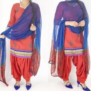 Three piece patiala salwar suit size med
